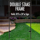 """Double Stake Frame 18"""" x 24"""""""