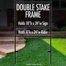 """Double Stake Frame 18"""" x 24"""" with 6"""" x 24"""" Bottom Rider"""