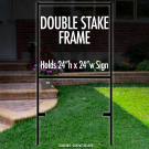 """Double Stake Frame 24"""" x 24"""""""