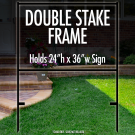 """Double Stake Frame 24"""" x 36"""""""