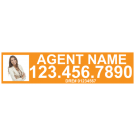 """6"""" x 24"""" Sign Rider with Photo - B"""