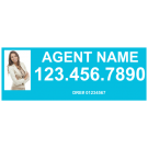 """9"""" x 24"""" Sign Rider with Photo - B"""