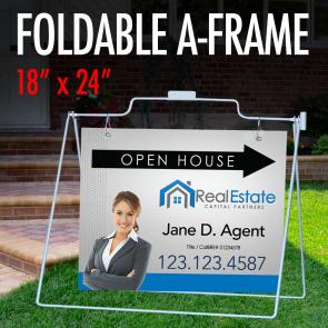 "Foldable A-Frame 18"" x 24"""