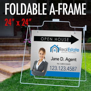 "Foldable A-Frame 24"" x 24"""