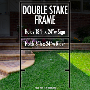 "Double Stake Frame 18"" x 24"" with 6"" x 24"" Bottom Rider"