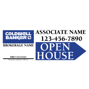 """9"""" x 24"""" Directional Signs - C"""